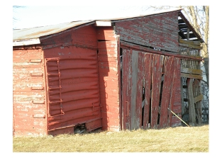 Barn in Galena Closeup, IL